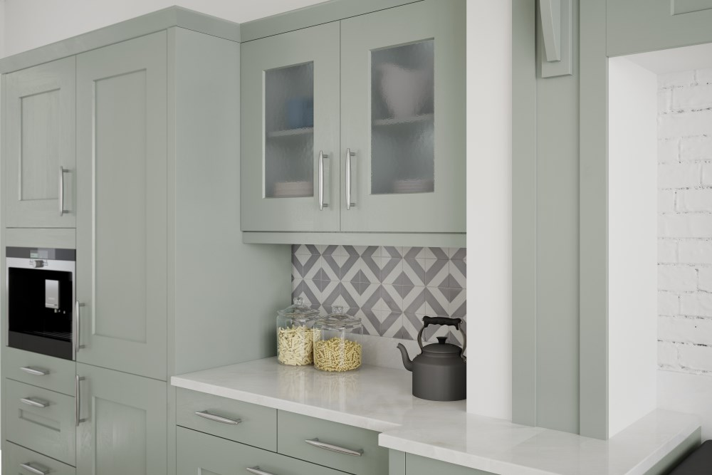 Painted kitchen design and installation, Carlisle, Cumbria